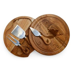 TOSCANA 7.5 in. Little Mermaid Acacia Brie Cheese Board and Tools Set