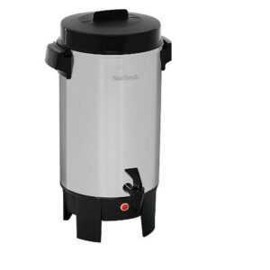 West Bend 30-Cup Polished Aluminum Silver with Quick Brewing Coffee Urn with Automatic Temperature Control Large Capacity