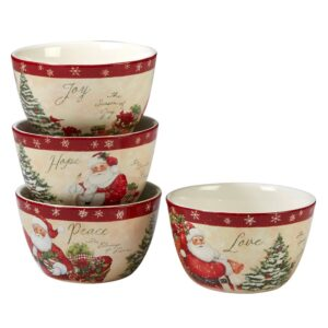 Certified International Holiday Wishes by Susan Winget 5.25 in. Ice Cream Bowl (Set of 4)