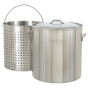 Bayou Classic 122 qt. Stainless Steel Stock Pot with Lid