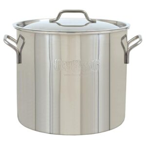 Bayou Classic Brew Kettle 20 qt. Stainless Steel Stock Pot with Lid