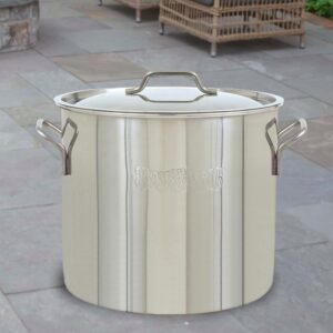 Bayou Classic Brew Kettle 30 qt. Stainless Steel Stock Pot with Lid