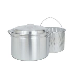 Bayou Classic 24 qt. Aluminum Stock Pot in Silver with Lid