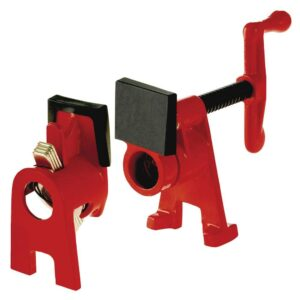 BESSEY H-Style Pipe Clamp Fixture Set for 1/2 in. Black Pipe