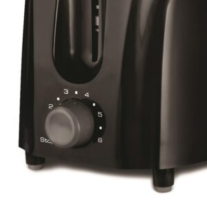 Brentwood 2-Slice Black Toaster with Cool-Touch Exterior