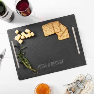 Cathy's Concepts Hors d'oeuvre 11.7 in. W x 1.3 in. H x 15.7 in. D Slate Serving Tray