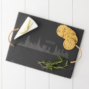 Cathy's Concepts Chicago Skyline Black Slate Serving Tray