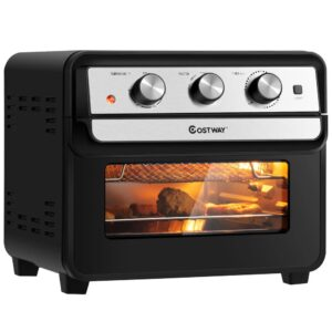 Costway 23 qt. Black Air Fryer Oven with Rotisserie