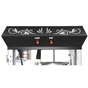 Great Northern Foundation 4 oz. Black Hot Oil Popcorn Machine with Cart