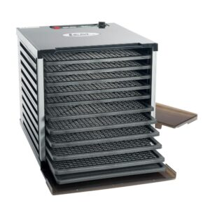 LEM Mighty Bite 10-Tray Black Food Dehydrator with Temperature Control