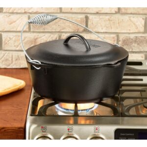 Lodge 7 Qt. Cast Iron Dutch Oven with Lid and Spiral Bail Handle