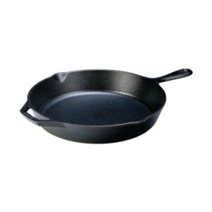 Lodge 12 in. Cast Iron Skillet in Black with Pour Spout
