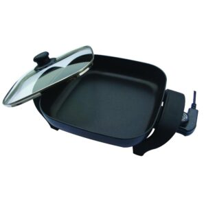 Nesco 8 in. Black Non-Stick Electric Skillet with Heat Resistant Handles