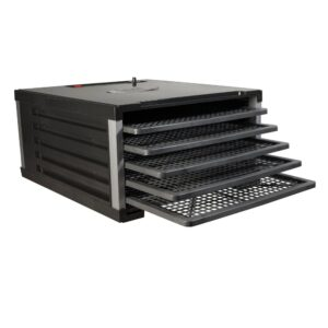 LEM 5-Tray Black Food Dehydrator with Built-In Timer
