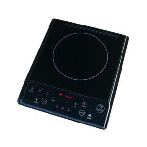 SPT 1300-Watts 7.5 in. single Burner Induction Cooktop (Silver) with 3.5L Induction Ready Stainless Steel Pot w/ Glass Lid