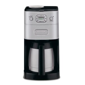 Cuisinart Grind and Brew 10-Cup Brushed Chrome Drip Coffee Maker with Thermal Carafe