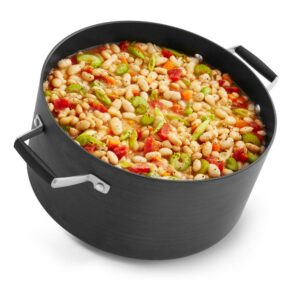 Calphalon Select 7 qt. Hard-Anodized Aluminum Nonstick Stock Pot in Black with Glass Lid