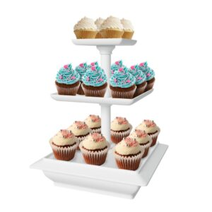 Chef Buddy 3-Tier Collapsible Dessert Stand with Self Storing Base