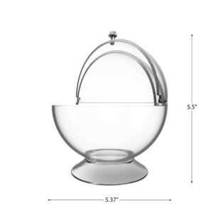 Chef Buddy Clear Candy Serving Bowl with Covered Lid