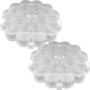 Chef Buddy Deviled Egg Trays with Snap On Lids Holds 36 Eggs (Set of 2)