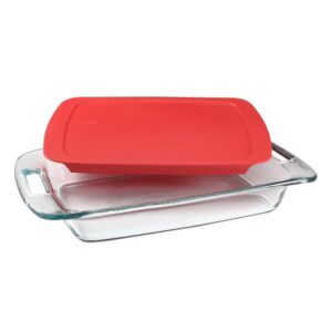 Pyrex Easy Grab 3-qt Glass Baker with Red Lid