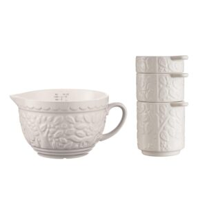 Mason Cash In the Forest 3-Piece Cream Measuring Cups and Jug Set