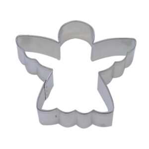 CybrTrayd 12-Piece 3 in. Angel Tinplated Steel Cookie Cutter and Cookie Recipe