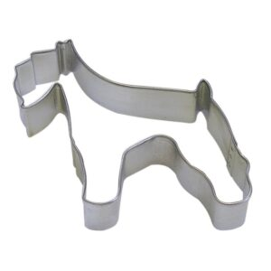 CybrTrayd 12-Piece 3 in. Schnauzer Tinplated Steel Cookie Cutter and Recipe