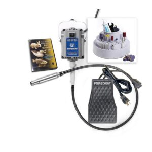 Foredom 1.7 Amp 1/6 HP Corded Woodcarving Rotary Power Tool Kit