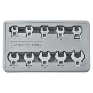 GEARWRENCH Metric Crowfoot Wrench Set (10-Piece)