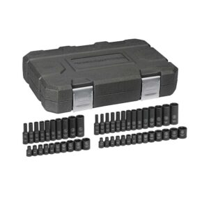 GEARWRENCH 1/4 in. Drive SAE/Metric Impact Socket Set (48-Piece)
