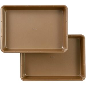 Wilton 9 in. x 13 in. Ceramic-Coated Non-Stick Oblong Pan (Set of 2)