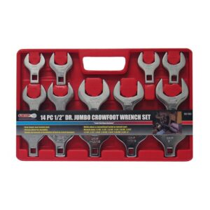 Grand Rapids Industrial Products 1/2 in. Drive SAE Jumbo Crowfoot Wrench Set (14-Piece)