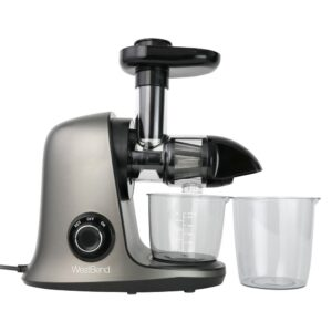 West Bend Cold Press Juicer Extractor Machine, Masticating Slow Juicer Quiet Motor For Juicing Fruits, Vegetables and Greens