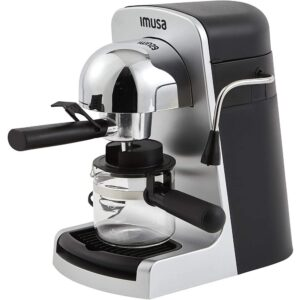 IMUSA 4-Cup Grey Espresso and Cappuccino Machine with Milk Frothier