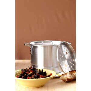 IMUSA Mexicana 32 qt. Aluminum Stovetop Steamer with Lid and Steam Tray
