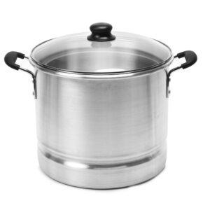 IMUSA Mexicana 20 qt. Aluminum Stovetop Steamer with Glass Lid