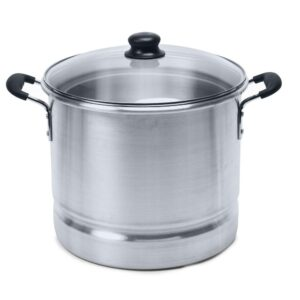 IMUSA Mexicana 24 qt. Aluminum Stovetop Steamer with Glass Lid