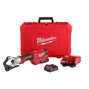 Milwaukee M18 18-Volt Lithium-Ion Cordless FORCE LOGIC 750 MCM Dieless Crimping Tool Kit with 2 2.0 Ah Batteries and Bag