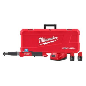 Milwaukee M12 FUEL ONE-KEY 12-Volt Lithium-Ion Brushless Cordless 3/8 in. Digital Torque Wrench Kit with Two 2.0 Ah Batteries