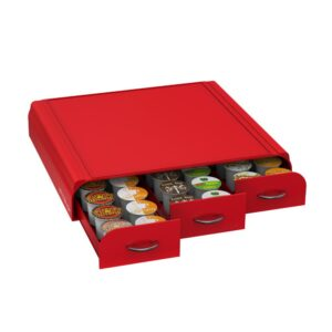 Mind Reader Anchor 36-Capacity Red K-Cup Storage Drawer