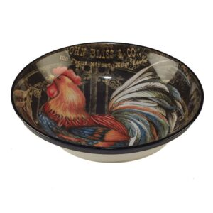 Certified International Gilded Rooster Multi-Colored 13 in. x 3 in. Serving/Pasta Bowl