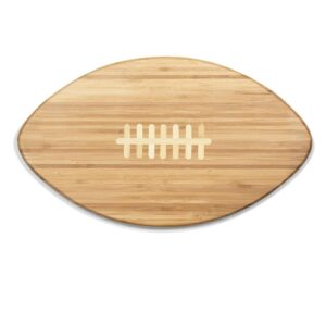 Picnic Time 16 in. x 8.8 in. Oval Bamboo Wood Football Cutting Board and Serving Tray