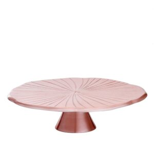 """Old Dutch 12-1/2 in. D Rose Gold """"Lily Pad"""" Cake Stand"""