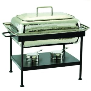 Old Dutch 23 in. x 13 in. x 19 in. Rectangular Polished Nickel over Stainless Steel Chafing Dish
