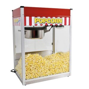 Paragon Classic Pop 14 oz. Red Stainless Steel Countertop Popcorn Machine