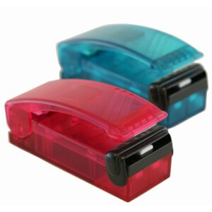 iTouchless Red and Blue Handheld Vacuum Sealer Set (2-Pack)