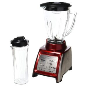 Oster Designed for Life 48 oz. 7 Speed Red Blender with Smoothie Cup
