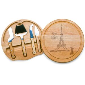 TOSCANA 10.2 in. Ratatouille Circo Cheese Board and Tools Set