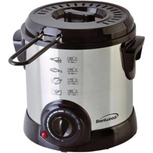 Brentwood 1.1 Qt. Stainless Steel Electric Deep Fryer